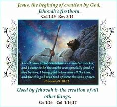 """How can you say Jesus IS God...Jehovah God created him first before ANYTHING. Jesus had a beginning, God has no beginning. 1 Corinthians 15:24-28...he hands back the kingdom to his God and Father, not to himself. What you've been taught about Jesus being God is false. Jehovah wants you to know who he is!!! Jesus said at John 17:3,""""This means everlasting life, their coming to know you, THE ONLY TRUE GOD and the one whom you sent, Jesus Christ."""""""