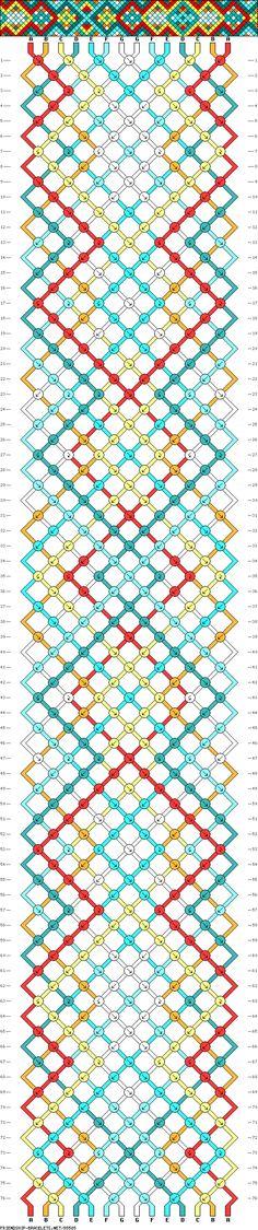 #85585 - friendship-bracelets.net friendship bracelet pattern diamond
