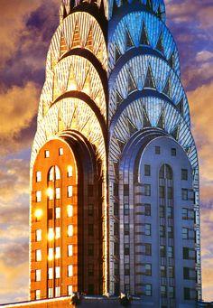Mitchell Funk - Chrysler Building Art Deco Skyscraper offered by Robert Funk Fine Art on InCollect Chrysler Building, Flatiron Building, Architecture Design, Amazing Architecture, Contemporary Architecture, Art Nouveau, Ciel Art, New York City, Photo New York