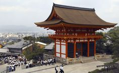Not a single nail was used in the construction of Kiyomizu-dera, a Buddhist temple in Kyoto, Japan that was designated a UNESCO World Heritage Site. (From: Photos: World's Most Striking Temples)