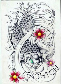 100 desenhos de Carpas   Aido Bonsai                              …