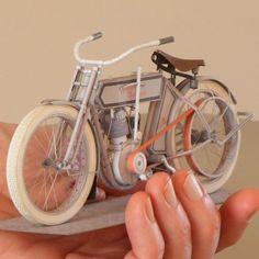 1911 Harley-Davidson Motorcycle Paper Model   Tektonten Papercraft