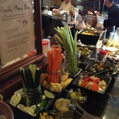 bloody mary bar...like the one at Brothers in BroadRipple. Yum!