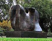 #Art: #HenryMoore - Knife Edge (two piece), 1962-65, bronze. Opposite House of Lords, #London, #England.