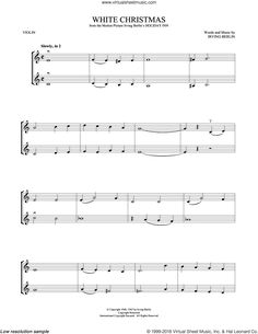 Berlin - White Christmas sheet music for two violins (duets, violin duets) Christmas Sheet Music, Irving Berlin, Music Classroom, Music Education, White Christmas, Violin, Fantasy, Music, Music Ed