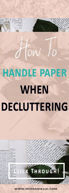Decluttering paper | how to handle paper when decluttering