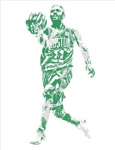 c014b1dfcd19 Kyrie Irving Boston Celtics Pixel Art 43 Art Print by Joe Hamilton