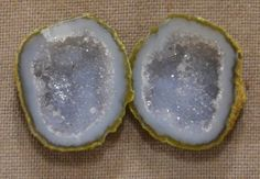 Tabasco Geode 1 Pair Cut and Polished Great for Jewelry 89399