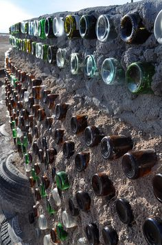 Recycle it. Earthships do! New Mexico Taos sustainable earthship