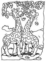 Giraf - Kleurplaten - Knutselpagina.nl - knutselen, knutselen en nog eens knutselen.