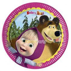 Platos para cumpleaños de Masha y el Oso. Todos los complementos, en nuestra tienda! https://www.articulos-fiestas-infantiles.es/784-cumpleanos-de-masha-y-el-oso