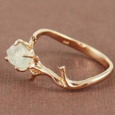 11. Nature Gem Ring - 15 Creative Wedding Ring Designs That Will Make…