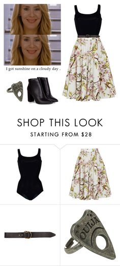 """""""Cordelia Foxx - ahs / american horror story"""" by shadyannon ❤ liked on Polyvore featuring Wolford, Dolce&Gabbana and Billabong"""