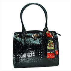 Gorgeous Vecceli Italy Designer Handbags by renowned Italian designer Ronella Lucci. Satin-finished lining imprinted 'Vecceli Italy'. Brass-finished accent hardware. Includes a beautiful scarf to complete this stylish handbag. Protective cloth cover is included for convenience. Make an immediate statement with these glittering luxury handbags that will complement all wardrobes Large and roomy with superior craftsmanship and attention to detail. Entry: Zip Top Closure. Interior Pockets: 2 Zip…