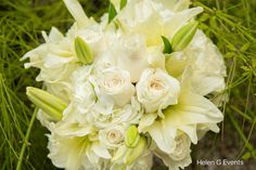 Brides Bouquet for our beautiful bride Sonia who got married on Wednesday June 8, 2016. . Congratulations Sonia and Kendrick . #weddingsinjamaica #helengevents #helengdecor #bride #bridesbouquet #jamaicaweddings #allwhitebouquet #bouquet #weddinginspo #weddinginspiration #flowers #roses #lilies #destinationweddings  . Photo for Helen G by @ranklin_weddings