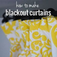 How to make blackout curtains. This tutorial has tons of photos that show you exactly what you need to do to line fabric with blackout lining.