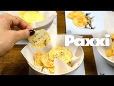 Τραγανά πατατάκια στο φούρνο - Paxxi 1min C81 - YouTube Dairy, Appetizers, Cheese, Snacks, Healthy, Recipes, Food, Appetizer, Recipies