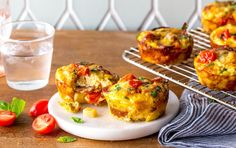 These bite-size frittatas are full of protein and veggies. Make a batch ahead of time and freeze the extras. Pop a few in the oven and breakfast is served.