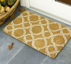 Love this design... and the name!  |  Kendra Trellis Door Mat from Pottery Barn
