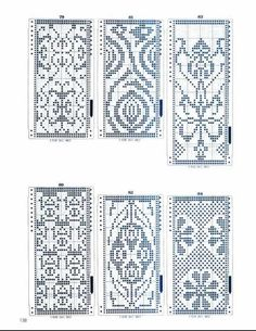 These are sweater graphs, but could be used in beading.  138.jpg
