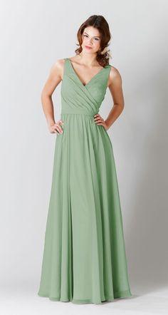 Latte|Anna Chiffon Bridesmaid Dress