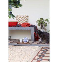 Abbas 120cm Concrete Bench, Dark Grey