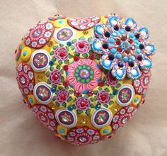 Billie+Beads+Millefiore+Fawncy+large+Heart+Box+with+by+BillieBeads,+$320.00