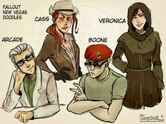 Fallout New Vegas Companions by on DeviantArt Fallout Funny, Fallout Fan Art, Fallout Concept Art, Fallout Comics, Fallout New Vegas, Fallout Cosplay, Bioshock Cosplay, Apocalypse Art, The Jetsons