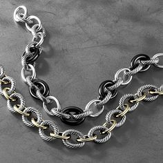 """""""Oval Link necklaces—a David Yurman signature in a mix of materials and textures."""""""