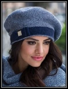 Knit Crochet, Crochet Hats, Beret, Mittens, Knitted Hats, Knitting Patterns, Winter Hats, Sewing, Womens Fashion