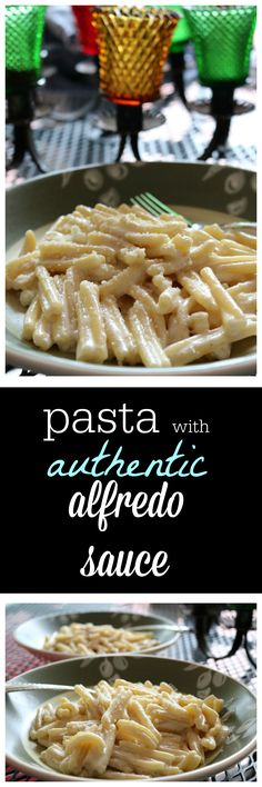 Authentic Italian Pasta with Easy Homemade Alfredo Sauce Recipe http://ceceliasgoodstuff.com/easy-pasta-alfredo