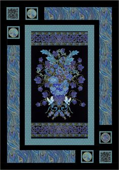 Palazzo - Oriental Elegance #Quilt by Leigh Headington - like the outer border