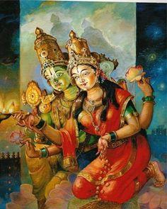 Vishnu and Lakshmi | Parabrahman manifestations | Pinterest es.pinterest.com500 × 625Buscar por imagen Dioses Hindúes, Diwali Feliz, Pintura Del Arte, Arte Oriental, Espiritualidad Hindú  PINTORES HINDUES - Buscar con Google