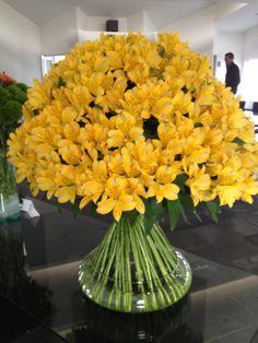 Diseño con Alstroemerias de Flores Funza.