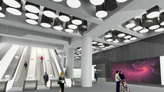 Tottenham Court Road Station - architects impression images