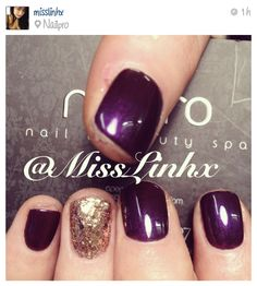 plum and gold glitter