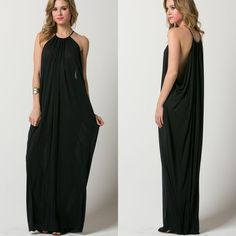 """""""Aphrodite's Favor"""" Black Maxi Dress Cannot even begin to say how beautiful this dress is. Long, flowy, soft material drapes well on anybody. Brand new. Junior sizing. Bare Anthology Dresses Maxi"""