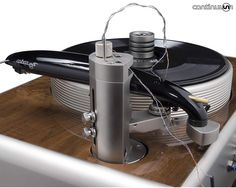 Many say it's the worlds best turntable, and one of the most expensive at $150,000. The Continuum Audio Labs Caliburn with the striking Cobra tonearm.  The world's formost vinyl authority Michael Fremer owns one as his reference. Made in Melbourne Australia.