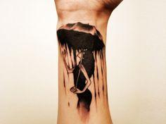 Awesome Umbrella Tattoo | Ruth Tattoo Ideas