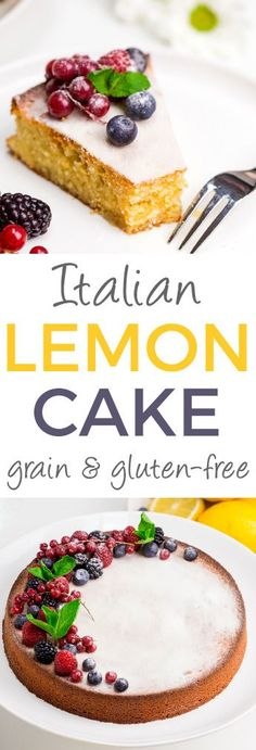 This Italian lemon almond flour cake, torta caprese bianca, is full of lemon flavor and has a lovely texture! It's also gluten-free and grain-free. Come enjoy the wonderful lemon flavor of this gluten free cake. Gluten Free Cookies, Gluten Free Baking, Gluten Free Desserts, Fun Desserts, Delicious Desserts, Almond Flour Cakes, Almond Flour Recipes, Cake Flour, Coconut Flour