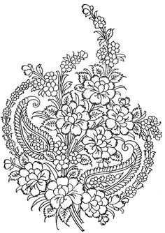 A bouquet complete with paisley!  Indian Motifs Textile Pattern, Design I,  http://www.4to40.com/textile_pattern/trace.asp?p=Textile_Pattern_Design_I=Indian_Motifs