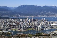 Vancouver, British Columbia, Canada ~ this looks like an amazing city! Vancouver Skyline, Vancouver City, Most Beautiful Cities, Wonderful Places, Places To Travel, Places To Go, City Landscape, Canada Travel, 1