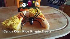 Wow this Halloween with these Candy Corn Rice Krispie Treats - YourSassySelf.com