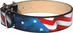 Amazing Patriotic American Flag #Dog #Collar for #English #Bulldog  $54.80   www.all-about-english-bulldog-dog-breed.com