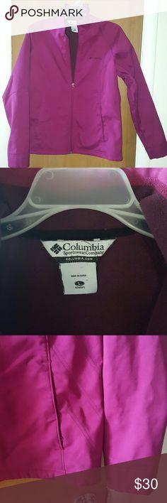 Columbia jacket Magenta jacket size L Great condition, smoke-free and pet-free environment Columbia Jackets & Coats