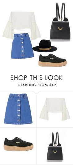"""Untitled #3"" by aya74829 ❤ liked on Polyvore featuring Miss Selfridge, Rosetta Getty, Puma, WithChic and Janessa Leone"