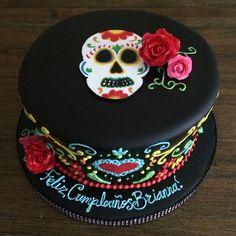 Day of the Dead Birthday Cake   Milk & Honey Cakery