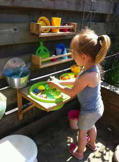 Outside play kitchen