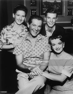 Publicity still shows the cast of 'the Bob Cummings Show,' 1959. From left, American actors Ann B. Davis, Robert Cummings (1908 - 1990), Dwayne Hickman, and Rosemary DeCamp (1910 - 2001).