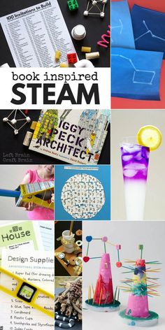 Kids have more fun when you combine favorite books with science, technology, engineering, art, & math with these Book Inspired STEAM Activities for Kids. # Books inspirational Book Inspired STEAM Projects for Kids Steam Activities, Science Activities, Activities For Kids, Science Experiments, Space Activities, Camping Activities, Activity Ideas, Indoor Activities, Writing Activities